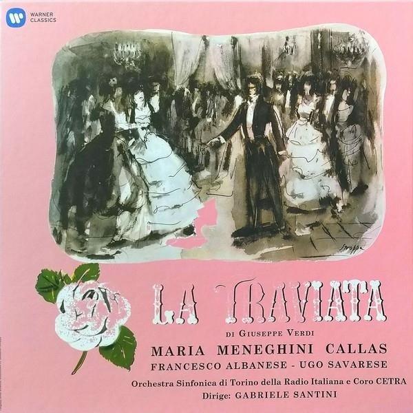 CALLAS/ALBANESE/SANTINI/TURIN Verdi: La Traviata (1953 - Studio Recording) 3LP