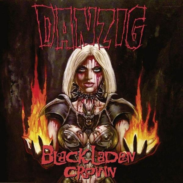 DANZIG Black Laden Crown Neon Orange LP
