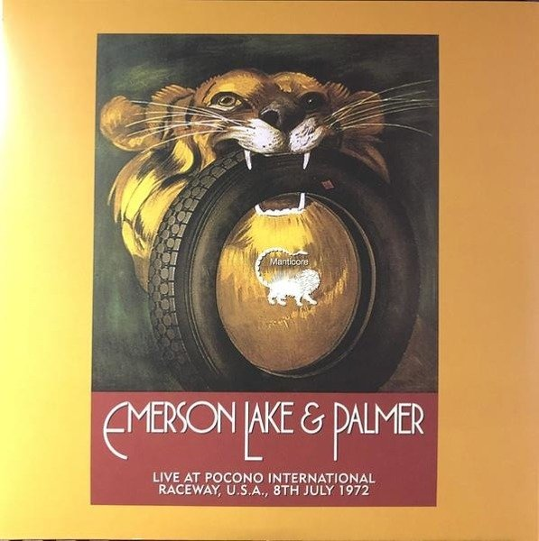 EMERSON, LAKE & PALMER Live At Pocono International Raceway, Long Pond, Pa, U.S.A., 9th July 1972 2LP