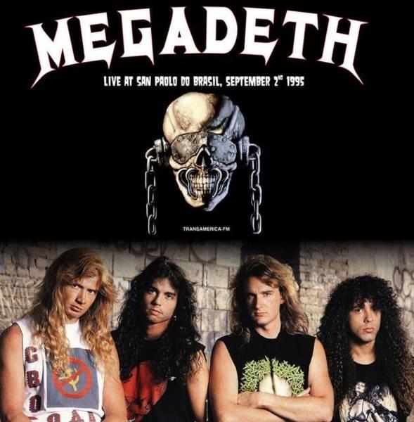 MEGADETH Sao Paulo Do Brasil September 2nd 1995 (White Vinyl) LP
