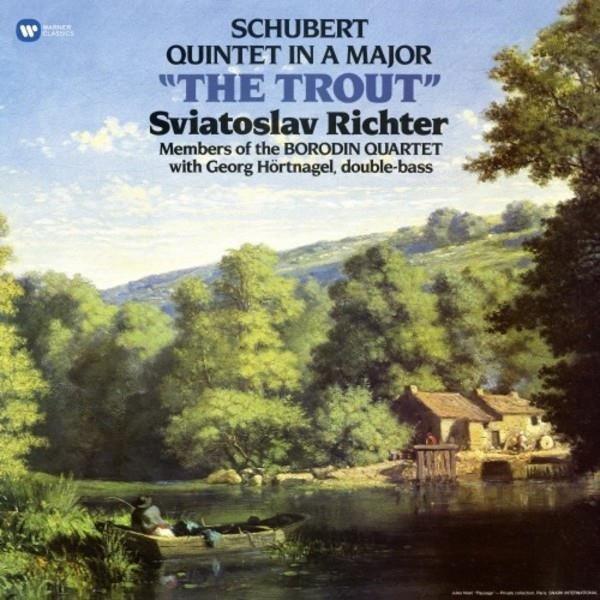 SVIATOSLAV RICHTER/BORODIN QUARTET/GEORG HORTNAGEL Schubert: Trout Quintet LP
